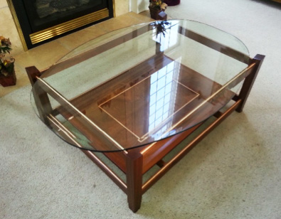Custom Furniture Design - Coffee Table Sketch - Raymond Tisone Woodworking - Fine Artisan Gifts and Furniture
