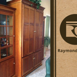 Custom Furniture – Mission-Style Solid Cherry Wood Entertainment Center