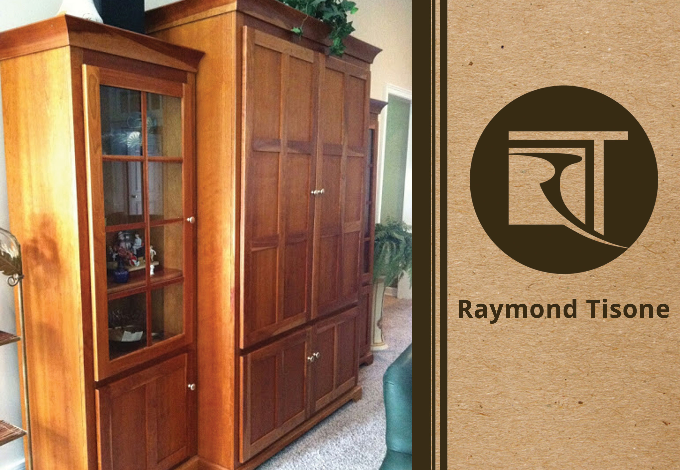 Custom furniture mission style solid cherry wood for Mission style entertainment center plans