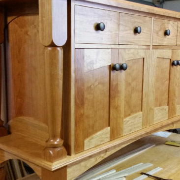 Custom Furniture – Cherry Wood Cabinet Sideboard
