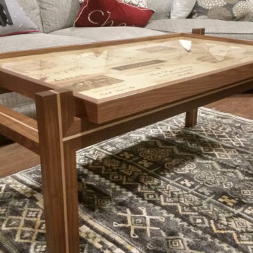 Custom Furniture – Wine Crate Coffee Table